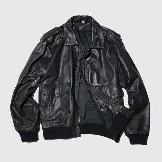 vintage a-2 type aviator leather jacket