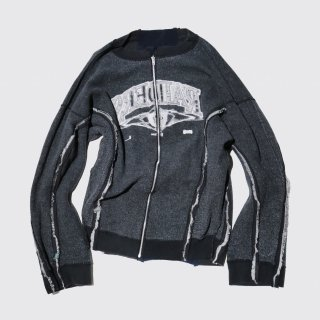 remake inside out sweat jacket , reversible