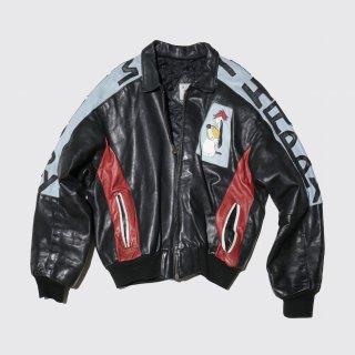 vintage droopy dog leather jacket