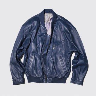 vintage euro leather bomber jacket