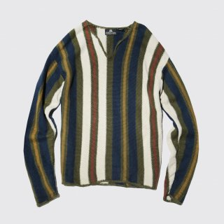 vintage border cotton sweater