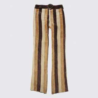 vintage belted suede trousers