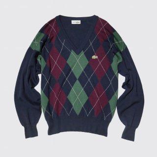 vintage lacoste argyle cashmere sweater