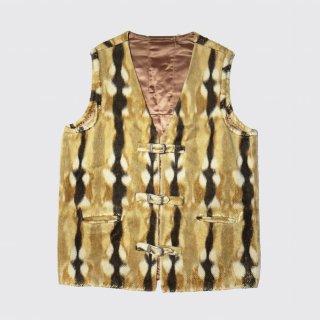 vintage belted animal hide vest