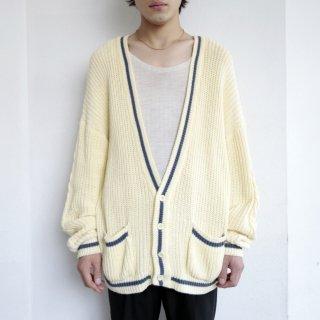 vintage euro cotton loose cardigan