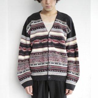 vintage euro multi woven cardigan