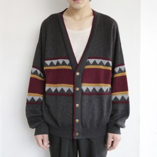 vintage swedish naitive pattern cardigan
