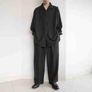 old stripe loose shirt set up