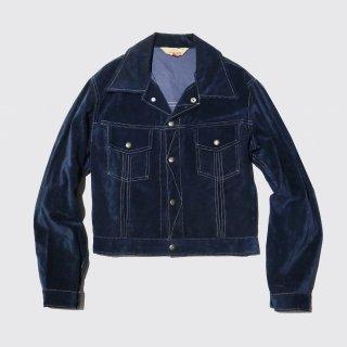 vintage velvet trucker jacket
