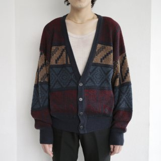 old naitive pattern cardigan