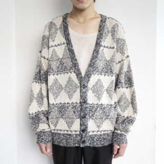 old frosting pattern cardigan