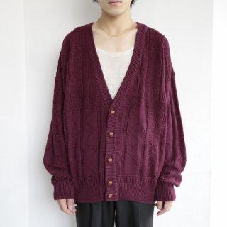 old cotton loose cardigan