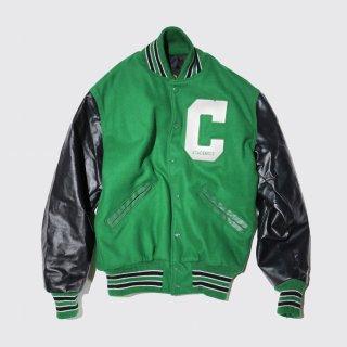 vintage leather sleeve varsity jacket
