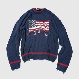 vintage broken flag sweater