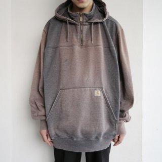 old carhartt faded half zip hoodie