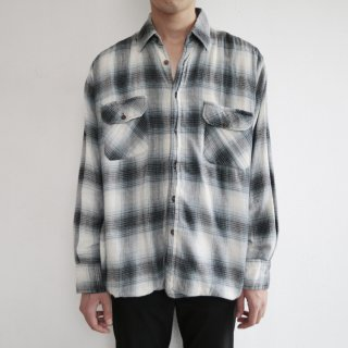old double face ombre check shirt