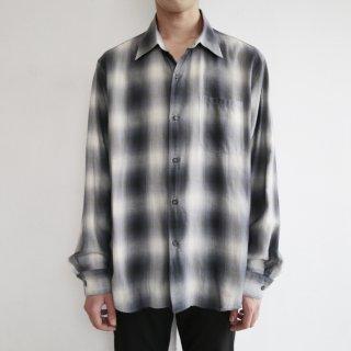 old agnes b. ombre check cotton shirt