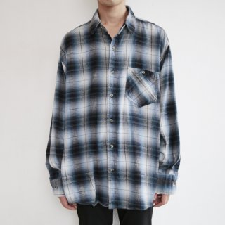 old ombre check flannel shirt