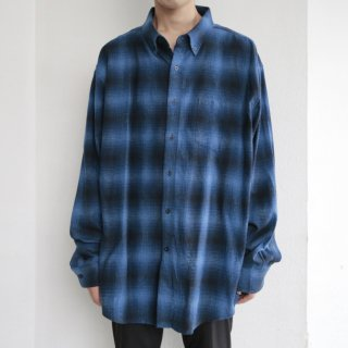 old pendleton ombre check flannel shirt
