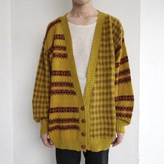 old pierre cardin crazy pattern cardigan