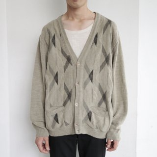 old euro woven pattern cardigan