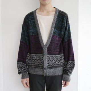 old native pattern cardigan