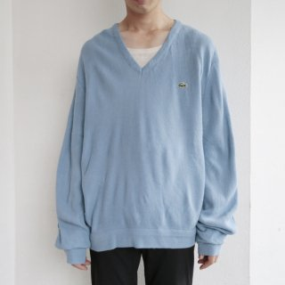 old lacoste loose acrylic sweater