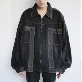 old sweat combi buggy trucker jacket