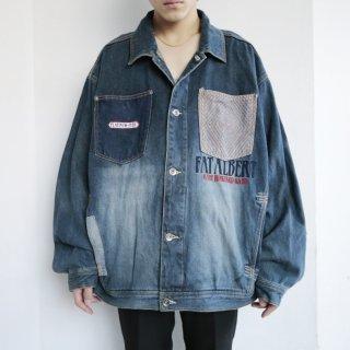 old platinum fubu the junkyard gang buggy trucker jacket