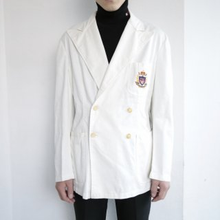old polo ralph lauren double breasted cotton blazer