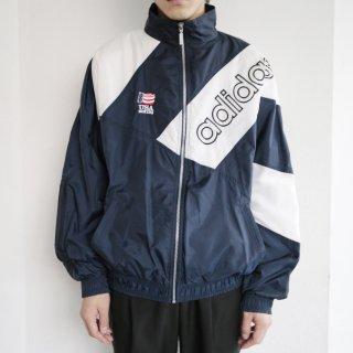old 90's adidas usa boxing nylon track jacket
