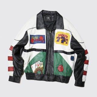 vintage casino leather jacket