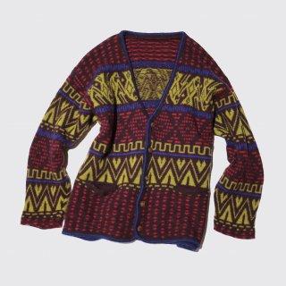 vintage native pattern cardigan