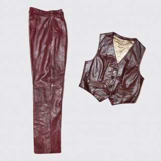 vintage leather 2piece