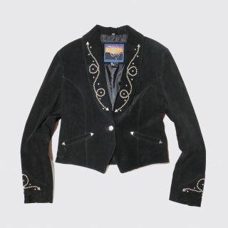 vintage studs leather spencer jacket
