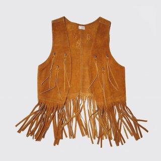 vintage fringe suede vest
