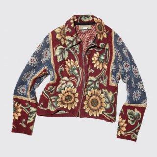 vintage zipped gobelin jacket