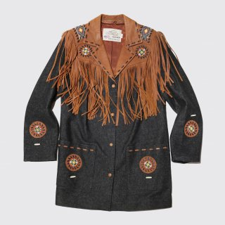 vintage fringe custom jacket