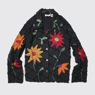 vintage flower broderie jacket
