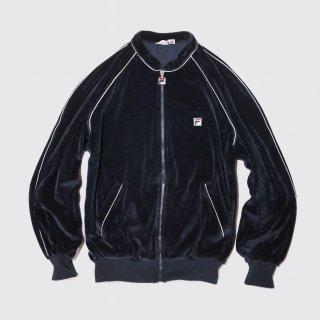 vintage fila italy velour track jacket