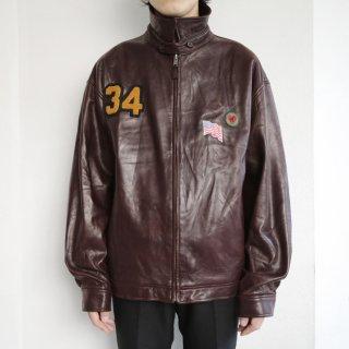 old polo ralph lauren custom leather jacket