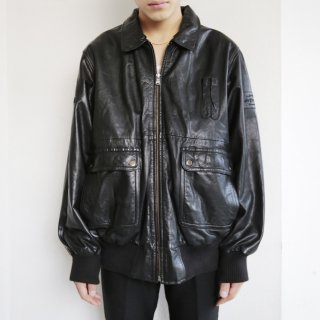 old a-2 type aviator leather jacket