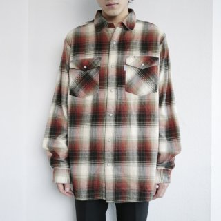 old carhartt ombre check shirt