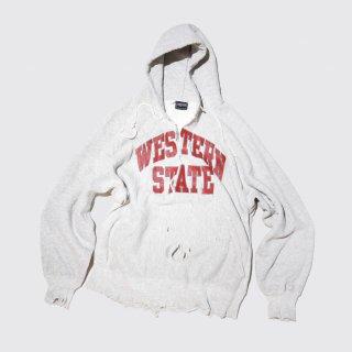 vintage broken hoodie , 90's jansports