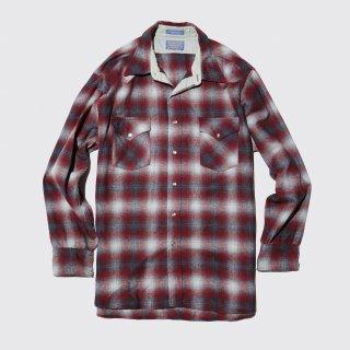 vintage pendleton ombre check wool shirt