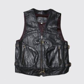 vintage velted leather vest
