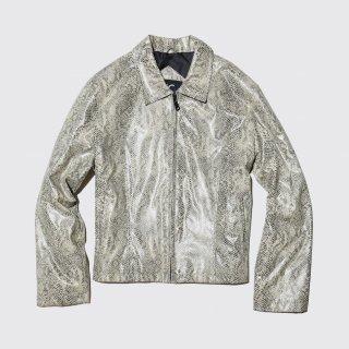 vintage faux python zipped jacket