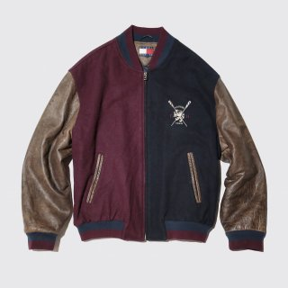 vintage tommy 2tone varsity jacket
