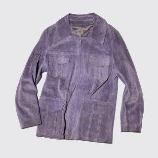 vintage zipped suede jacket