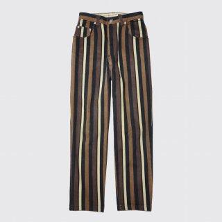 vintage stripe denim cropped trousers